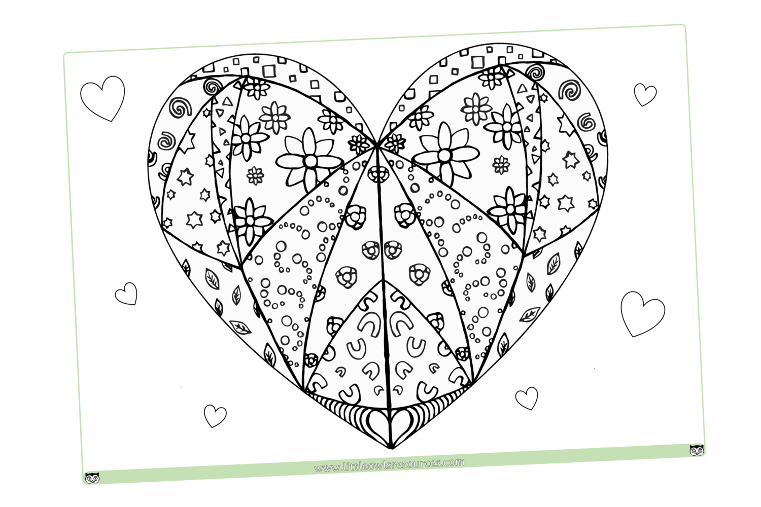 FREE Mindfulness Heart Colouring printable Early Years/EY