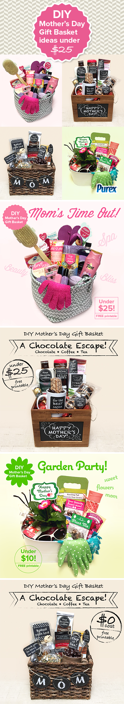 DIY Motherus Day gift basket ideas under   For the Home