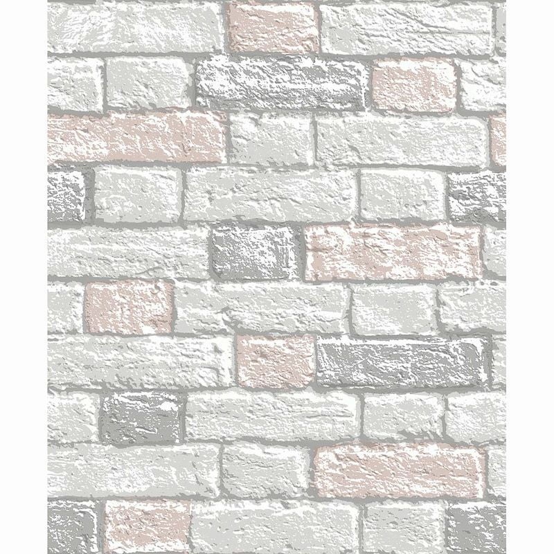 Glitter Brick Wallpaper Blush In 2020 Brick Wallpaper Brick Wallpaper Room Glitter Grout