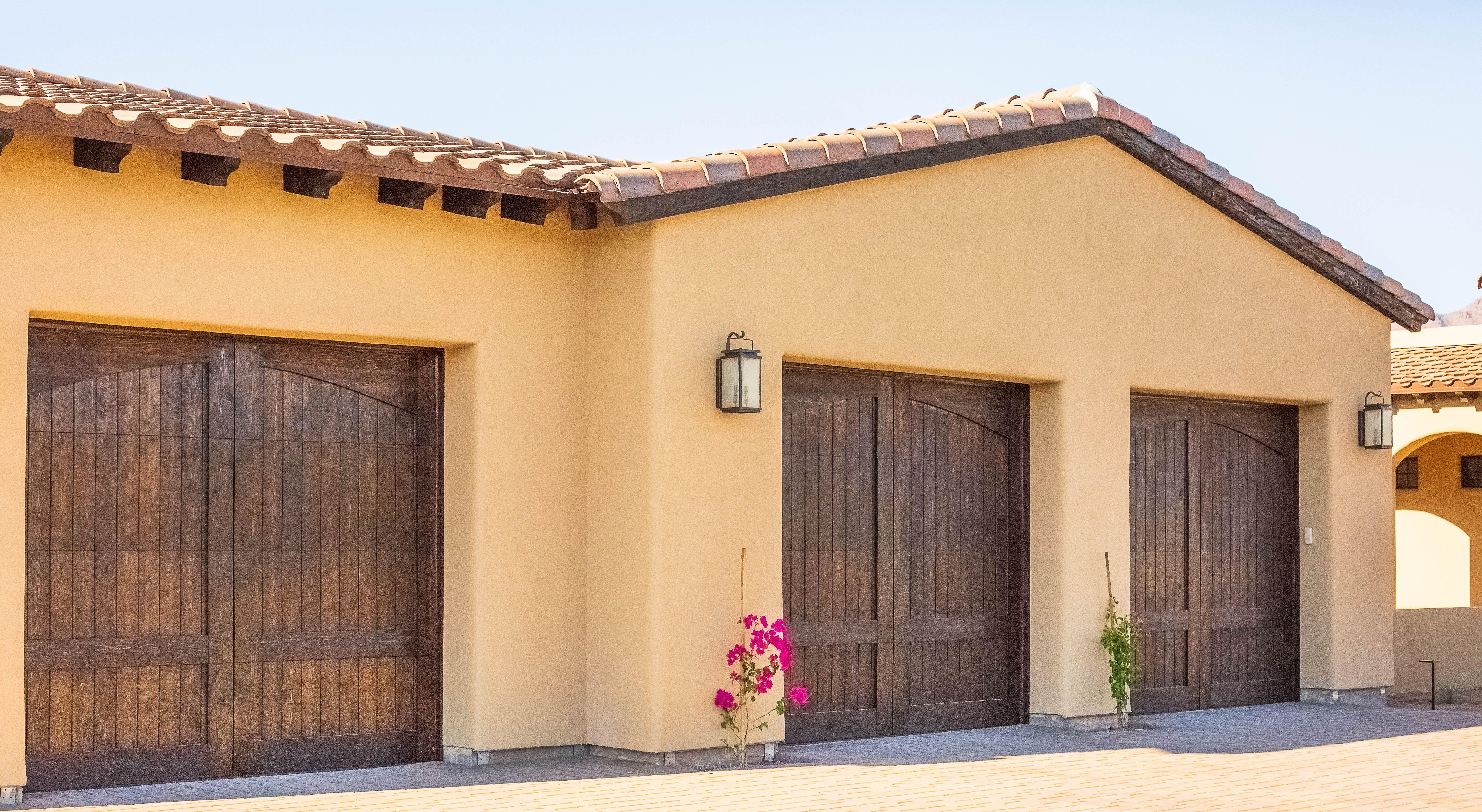 Custom Wood Overlay Garage Doors In Beautiful Scottsdale Arizona