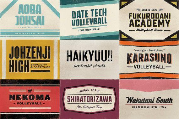 Haikyuu Postcard Prints