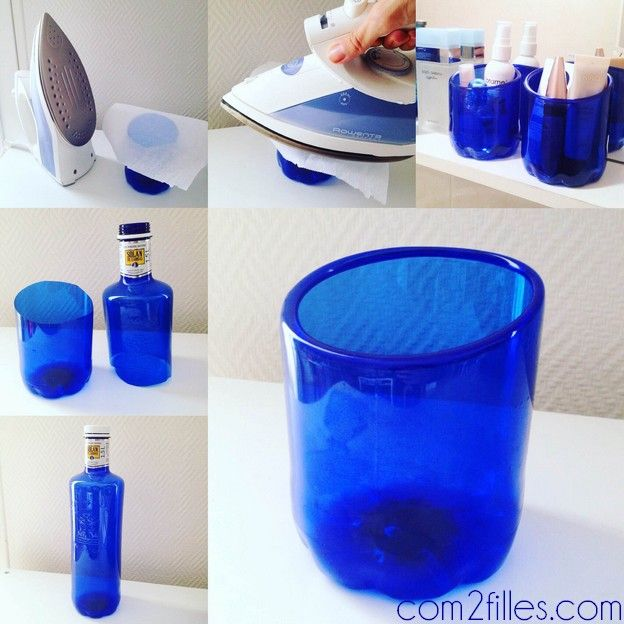 diy des bouteilles plastiques transform es en pots bouteille plastique bouteille et pots. Black Bedroom Furniture Sets. Home Design Ideas