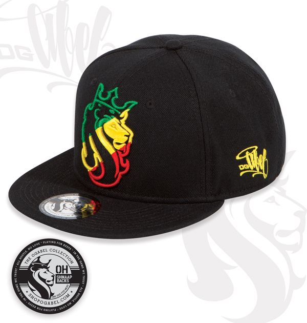 Gorra Plana OGLion Snapback Estilo Reggae  c3e0673f39a