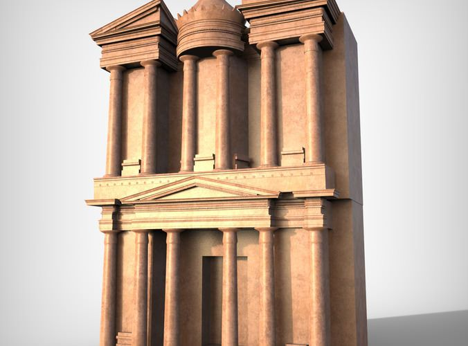 Petra Al Khazneh or The Treasury at Petra free 3D Model by