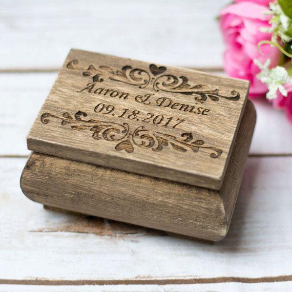 Wedding Ring Box Bearer Rustic Wedding Moss Ring Holder Personalized
