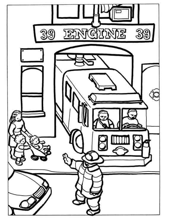 Dover Sampler - Firefighters Coloring Book | Kayden | Pinterest ...
