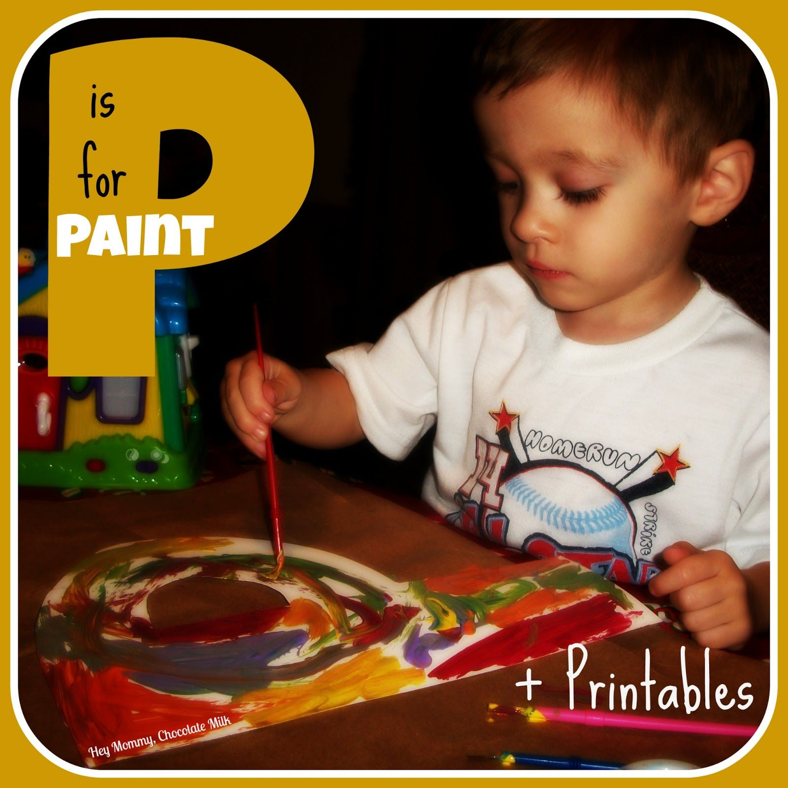 P is for Paint - Printables (Letter Recognition, Connect the Colors, Complete the Pattern, Trace the Line). Pinned by Generation iKid.