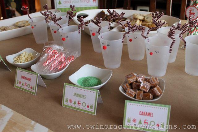 Hot Cocoa Bar Cocoa bar, Christmas open house and Dragonflies