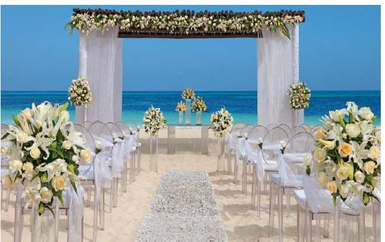 Potential Wedding Setup At Dreams Punta Cana Resort Spa Beautiful Beach