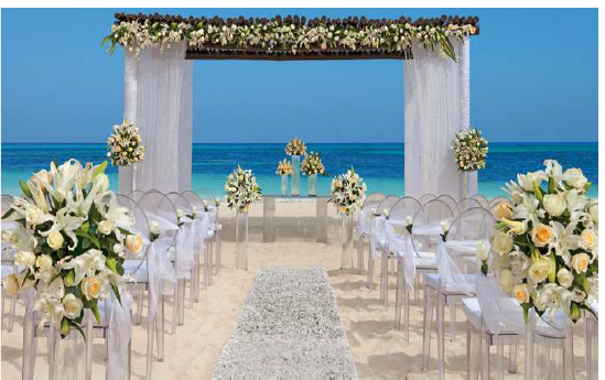 Potential wedding setup at Dreams Punta Cana, Resort & Spa ...