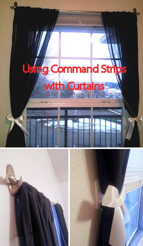 Use Command Hooks To Hang A Curtain Rod Great For Renters Also