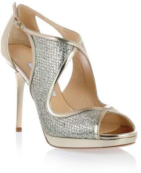 41120084d0 Jimmy Choo Leondra champagne glitter sandal#jimmychoo #glitter #sandal