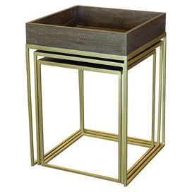 Set Of 3 Nesting Tables With Open Iron Bases Product Small