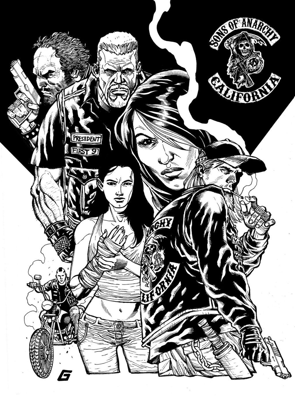 Sons Of Anarchy Goldman Style By Goldmanpenciler On Deviantart Sons Of Anarchy Sons Of Anarchy Mc Anarchy