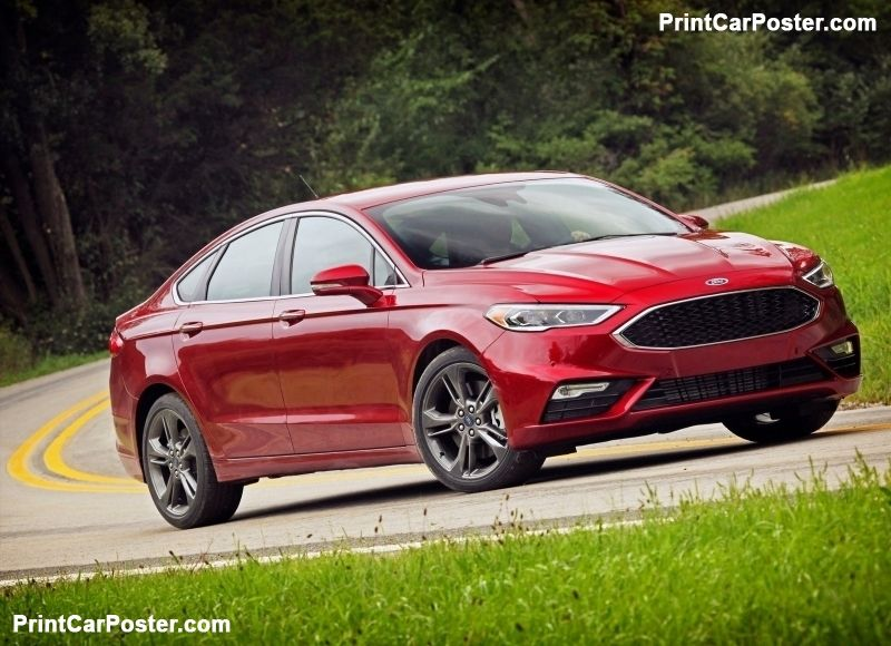 Ford Fusion V6 Sport 2017 poster (With images) Ford