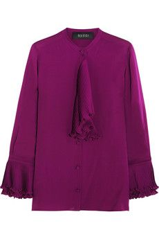 1054c8e2cbc34 Gucci Ruffled silk-georgette blouse