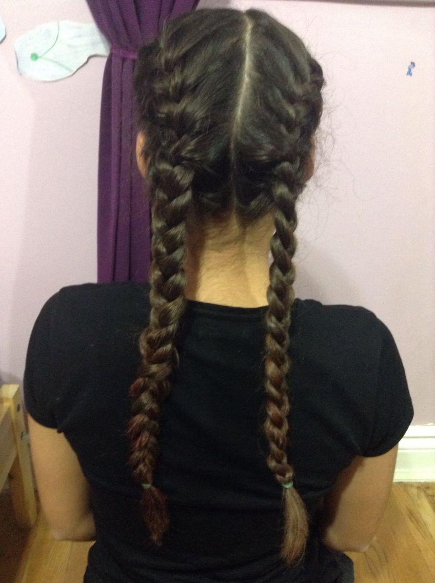 2 French Braids Long Hair Styles Hair Styles Hair