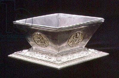 Salt dish, after Peter Flotman, Nuremberg, 1550 (silver and parcel-gilt)