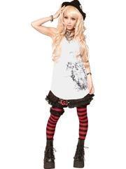 FAKE ANGEL Tunic One-Piece White x Black / See more at http://www.cdjapan.co.jp/apparel/sexpot.html #harajuku #punk fashion