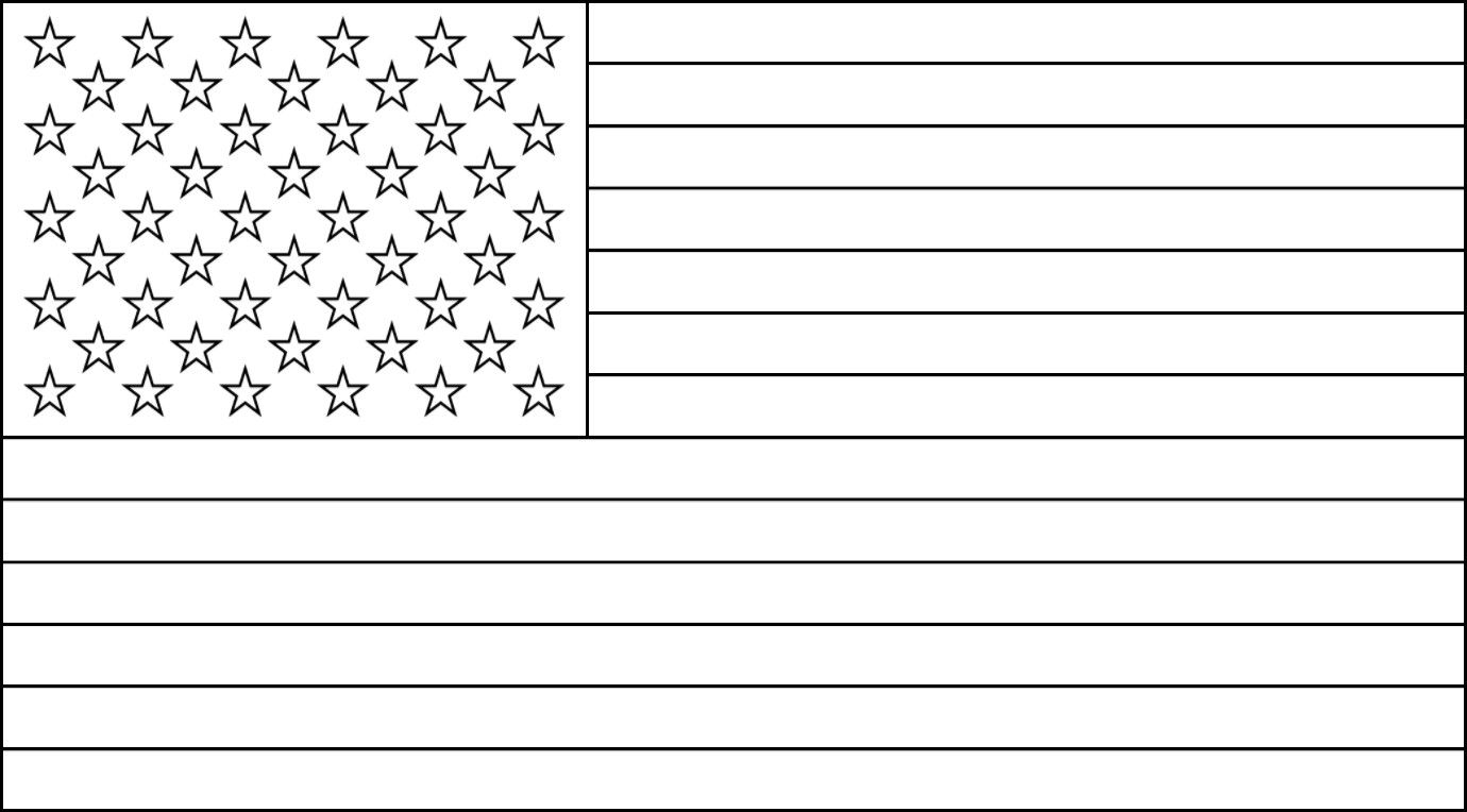 Images Of Our Free American Flag Outline For Coloring Flag