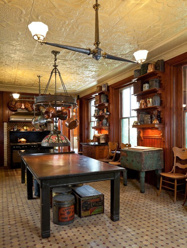 Image Result For Victorian Era Kitchens Log Home Kitchen Flooring