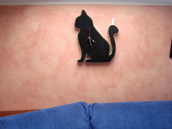 Omer Chalkboard cat, blackboard time, clock chalkboard, kitchen blackboard, chalkboard sign, upcycled, eco friendly, nursery room,