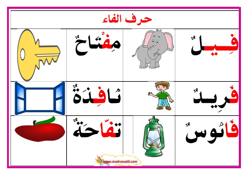 معلقات حروف و كلمات 2 موقع مدرستي Arabic Kids Learning Arabic Arabic Language