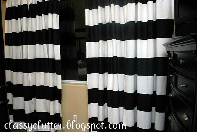 Tutorial For Diy Stripe Curtains Using Freezer Paper Striped