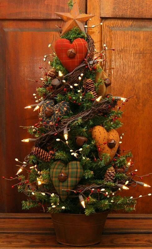 Image may contain plant HOLIDAYS/PARTIES Pinterest Plants - primitive christmas decorations