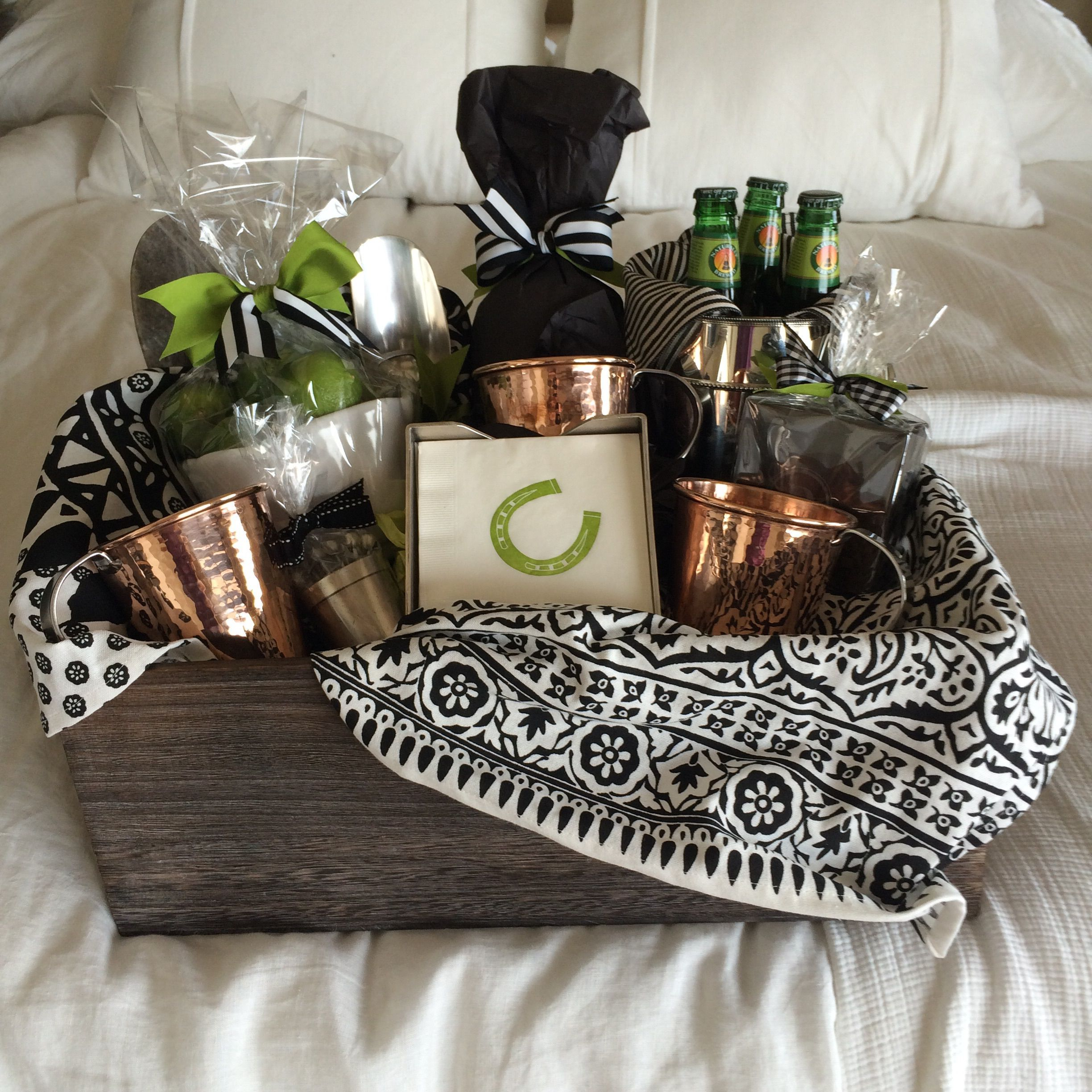 Moscow mule gift basket mugs are by sertado copper they