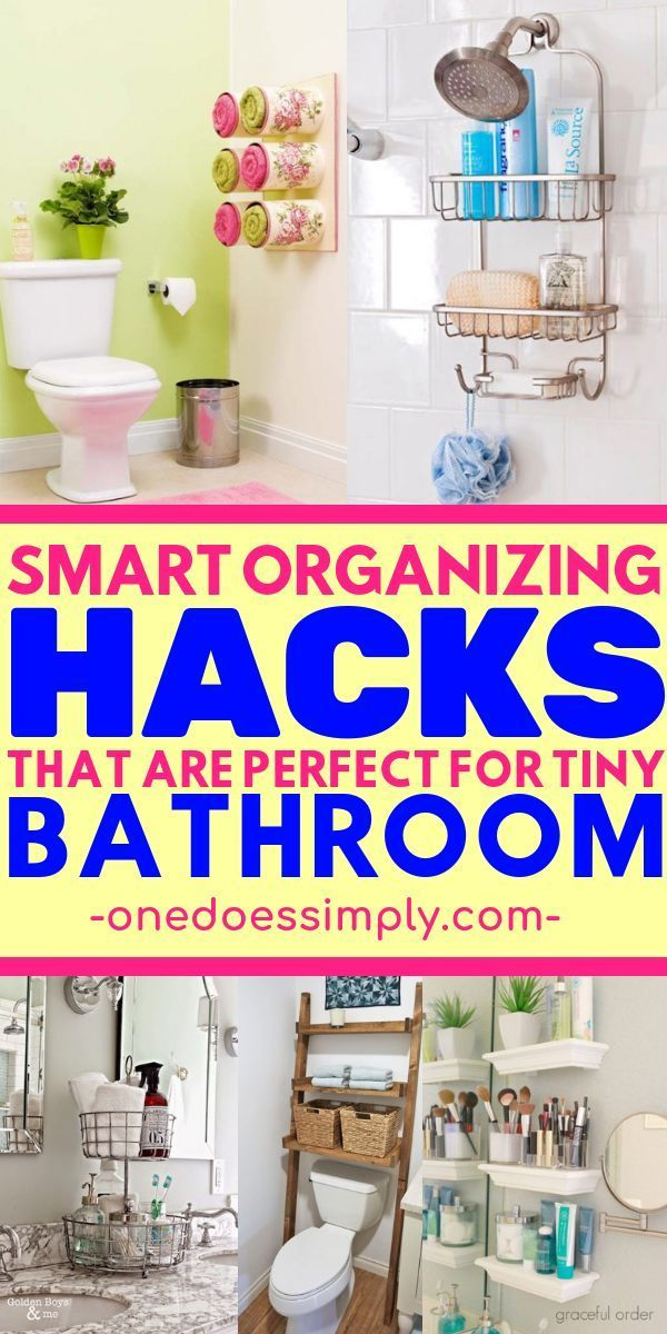 10 Amazing Organization Ideas for Tiny Bathroom images