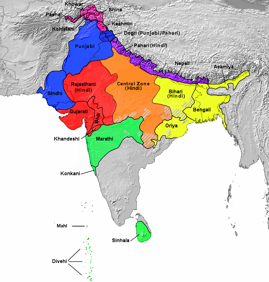 geographical distribution of india