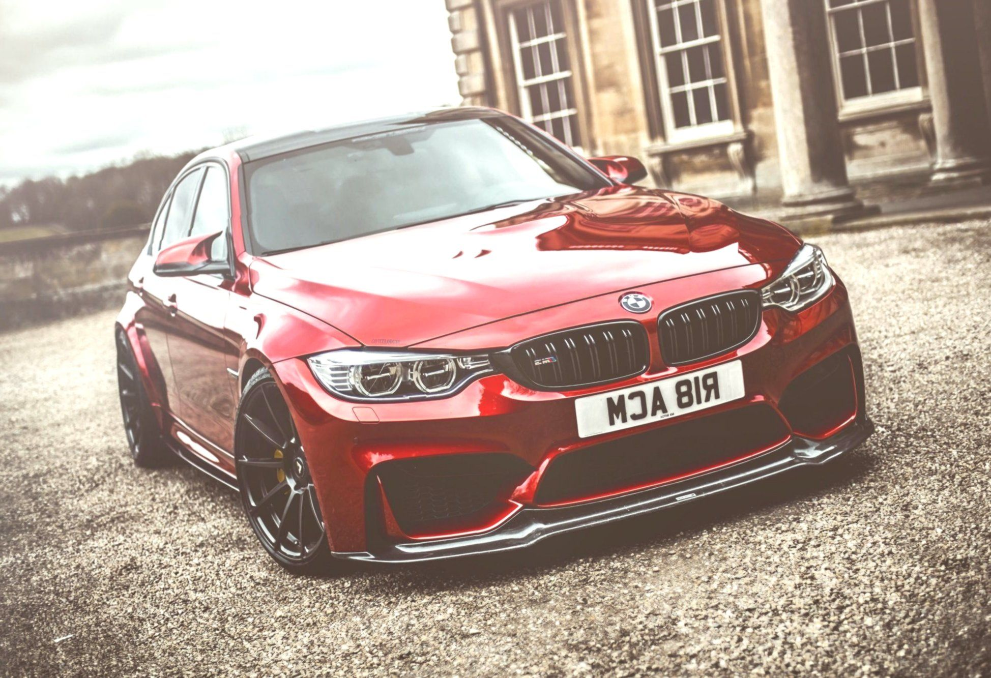 The Peculiar Red Paint Of The Custom Made Bmw 3 Series Magnifies The Crowd Custom Bmw Bmw 3 Series Bmw