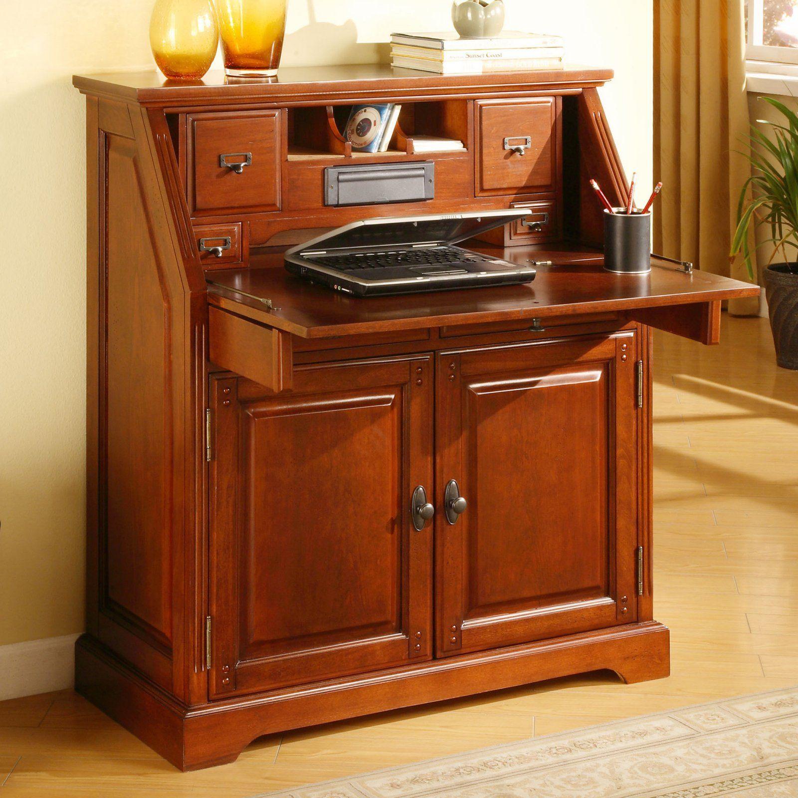 A Secretary Desk That Looks Almost Like This Muebles Madera Maciza Escritorio De Secretaria Mueble Escritorio