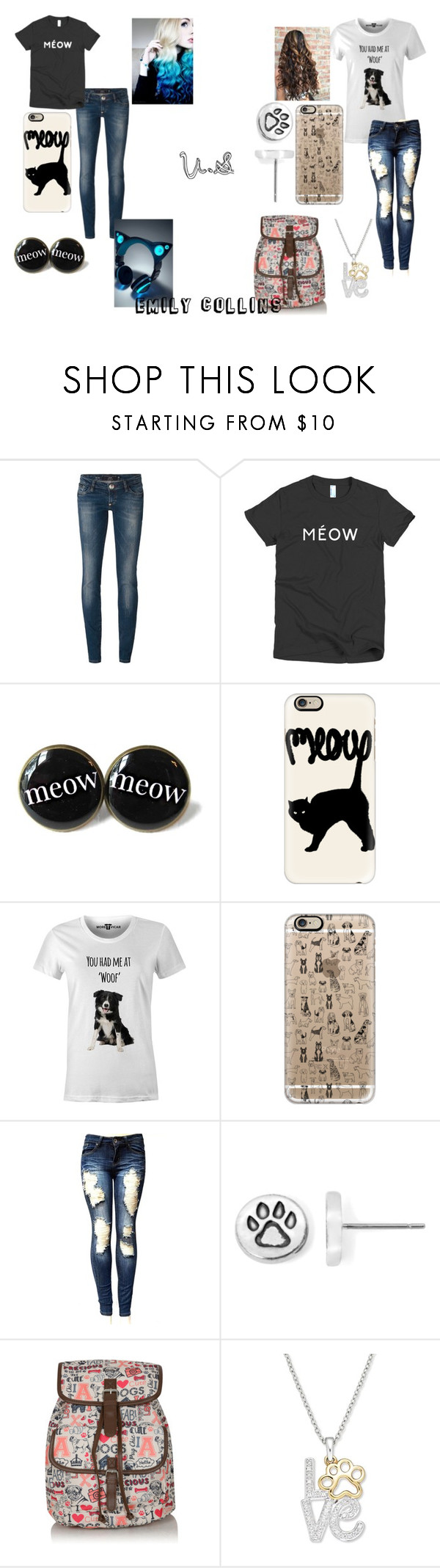"""""""Cat people V.S dog people; What side are you on"""" by lets-try-not-to-panic ❤ liked on Polyvore featuring Philipp Plein, Casetify and George"""