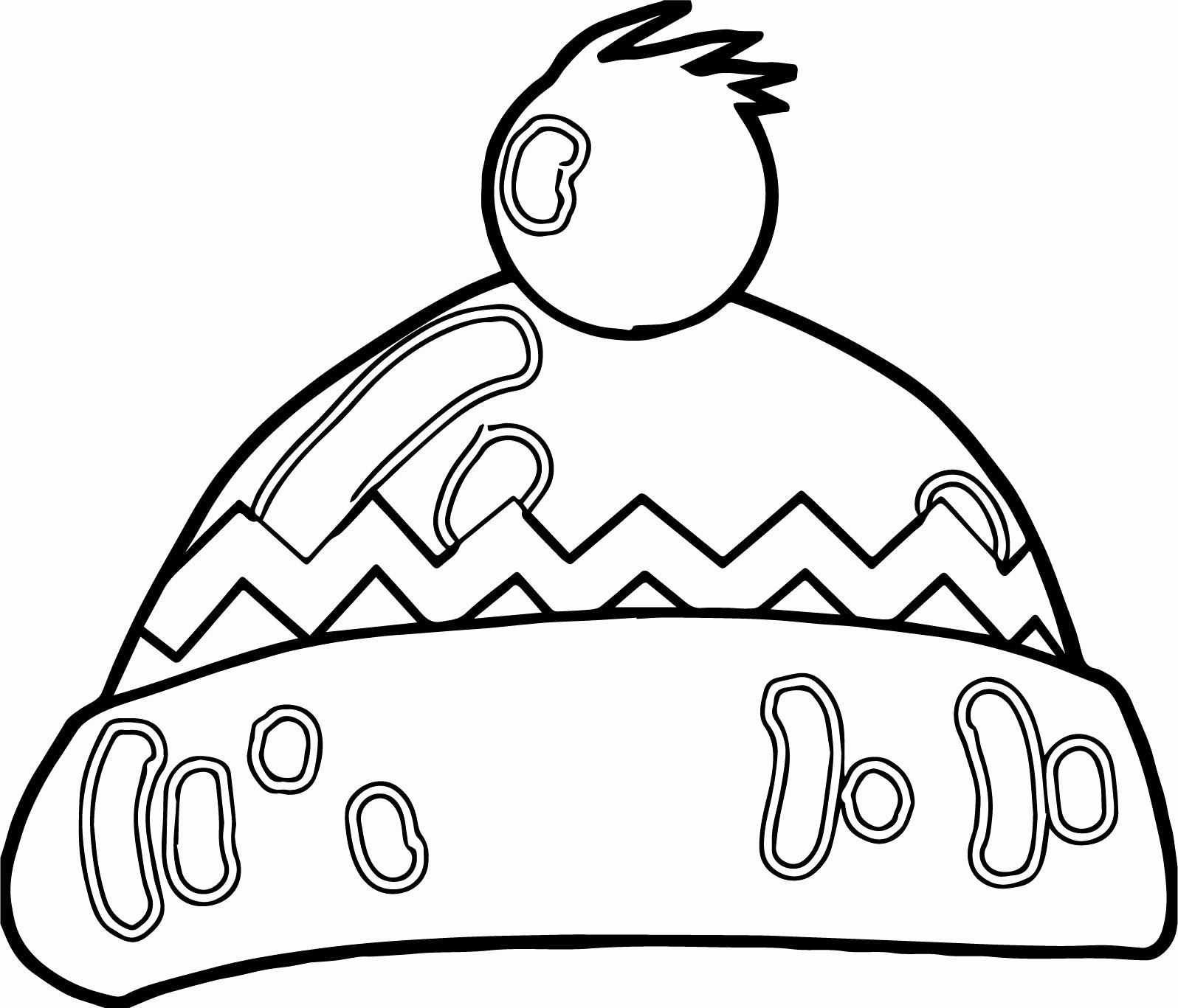Winter Hat Coloring Page Inspirational Winter Cartoon Hat Coloring Page Winter H In 2020 Coloring Pages Inspirational Coloring Pages Coloring Pages Winter
