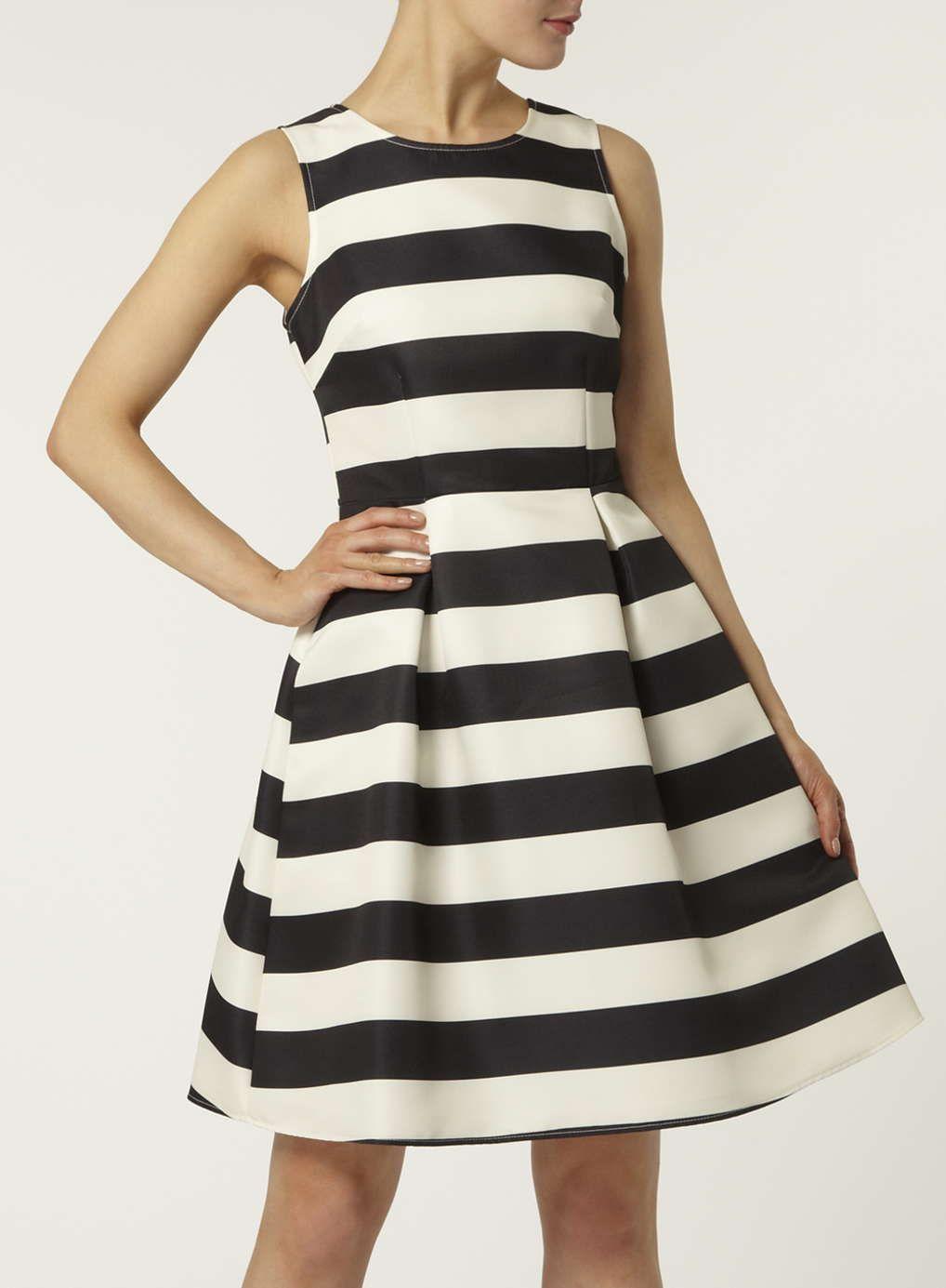 Schwarzes, Strukturiertes Kleid mit Streifen | strukturiertes Kleid ...