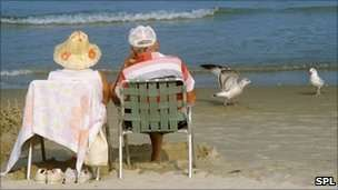 elderly people on beach - Google Search