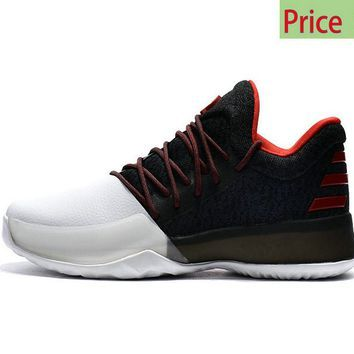 outlet store cc42c 989b0 2018 Fashion 2017 Adidas BW0546 Harden Vol.1 Pioneer White Black Solar Red  sneaker
