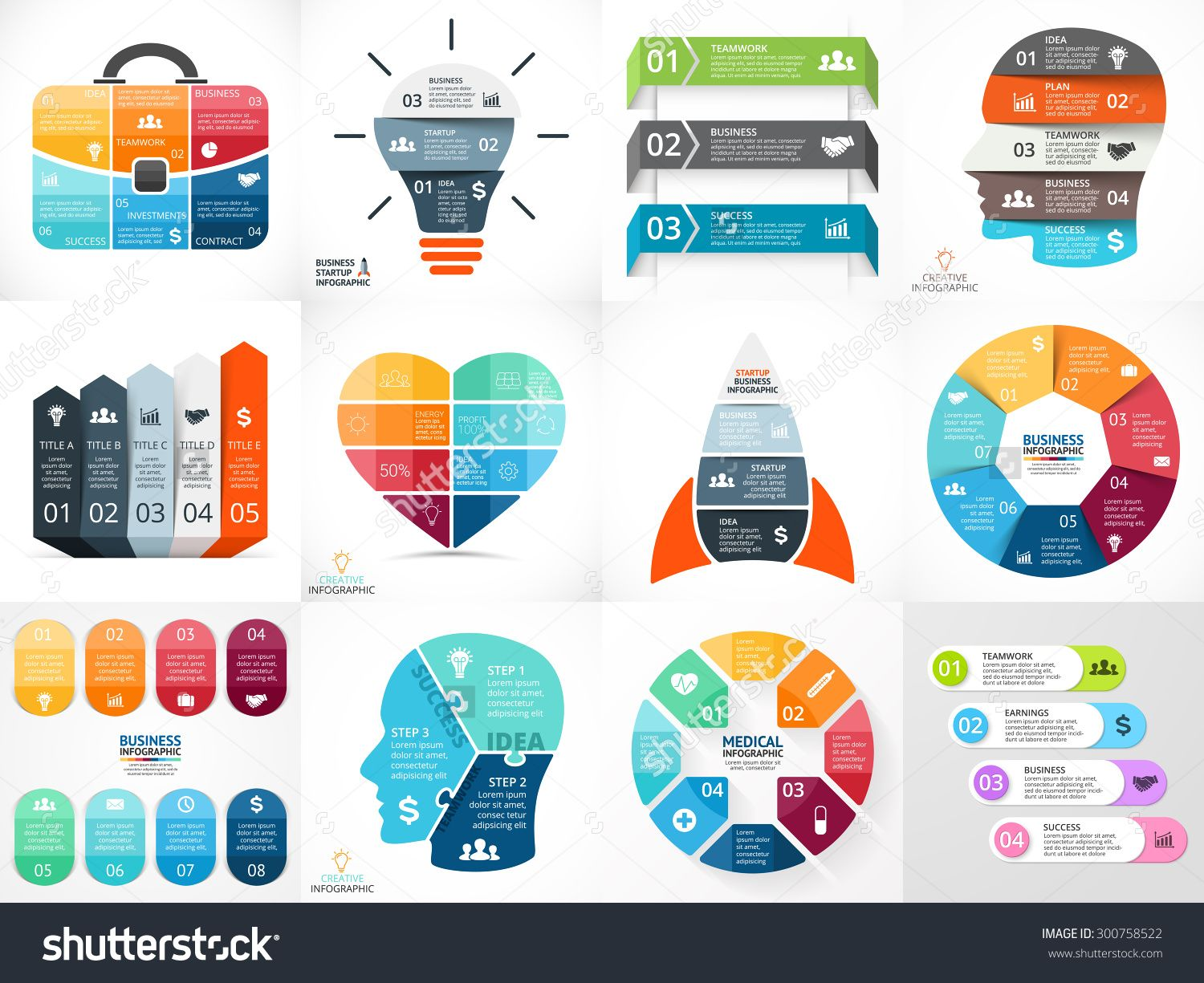 Pin By Indy Rg On Design 3 Pinterest Infographic Chart And Vector Idea With Light Bulb Template For Creative Diagram Teamwork Human Head Presentation Infographics Charts