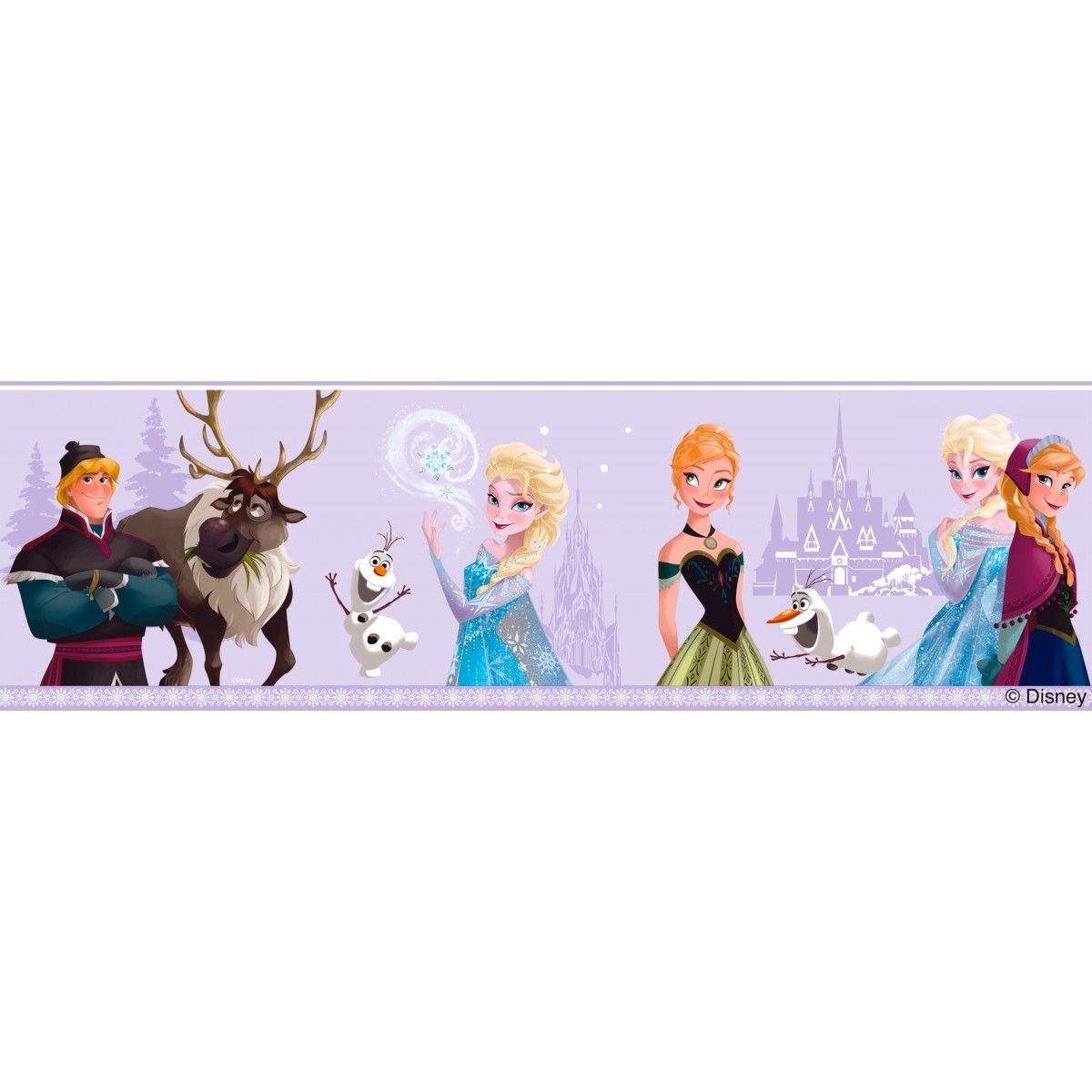 Disney Frozen Self Adhesive Wallpaper Border Lilac Fr3503 3 With Images Pink Wallpaper Border Frozen Wallpaper Disney Wallpaper