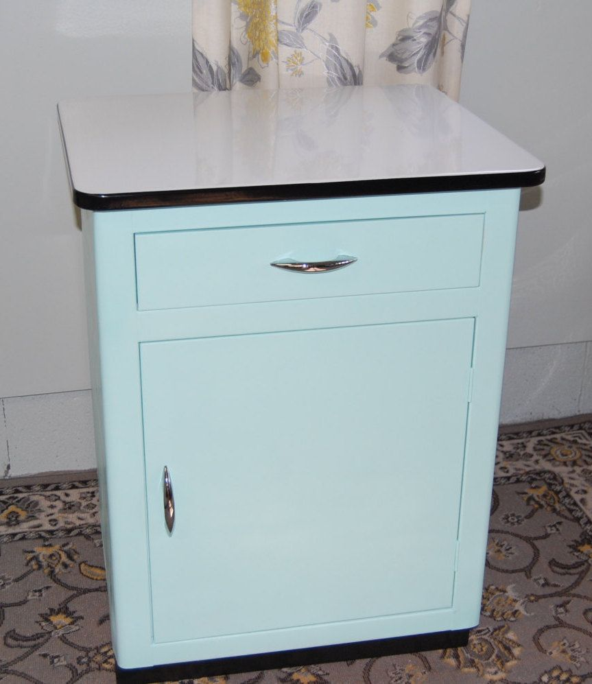 Vintage Metal Kitchen Cabinet with Original Hardware and ...