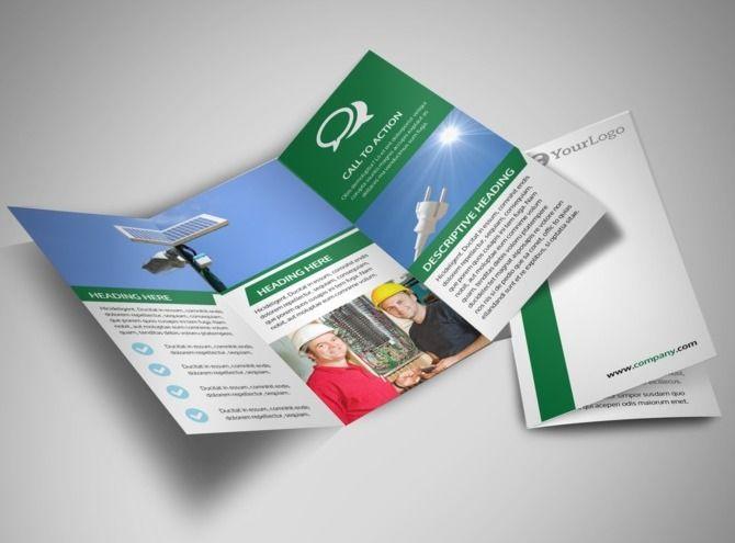Solar Energy Company TriFold Brochure Template  Solar Energy