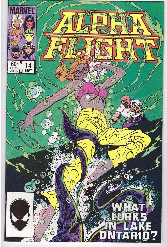 Alpha Flight 14 Sept 1984 Comic Book Snowbird What Lurks