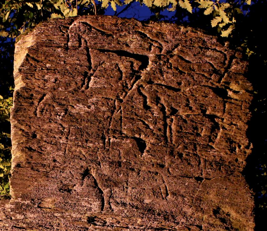 The engravings discovered on a slate rock face near the