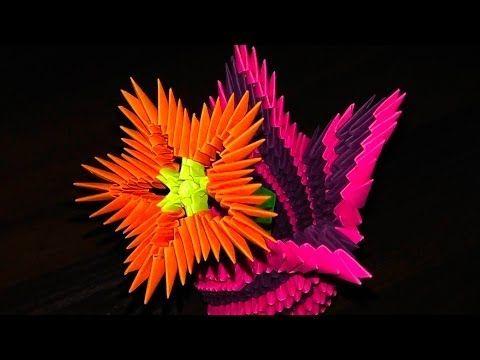 Modulnoe Origami Cvety Cvetok Master Klass Dlya Nachinayushih Youtube 3d Origami Origami Flowers Easy Origami Flower