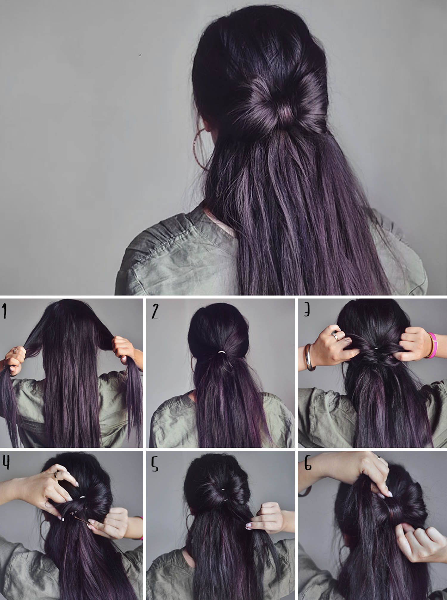 Adaras quick u easy hairstyles halfup hair bow hairstyle hair