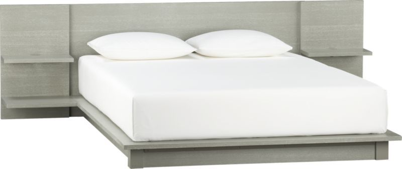 Andes Concrete Queen Bed Bed Frame And Headboard Modern Style