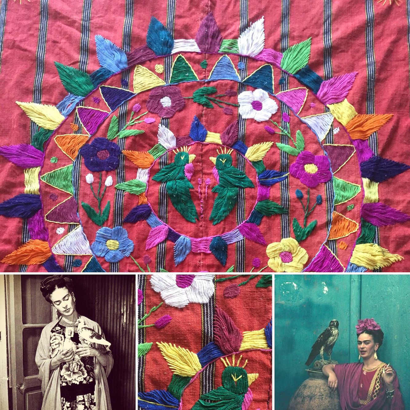 Jaakkola's Koti (home)~Filtering Frida through this handstitched tapestry I discovered.
