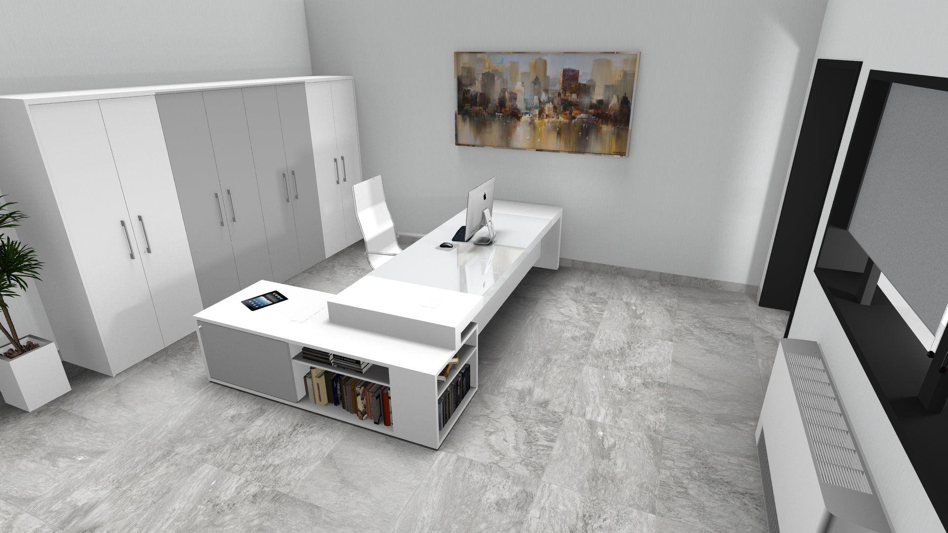 Ufficio Direzionale Bianco : Executive office idea modern interior design restyling idea